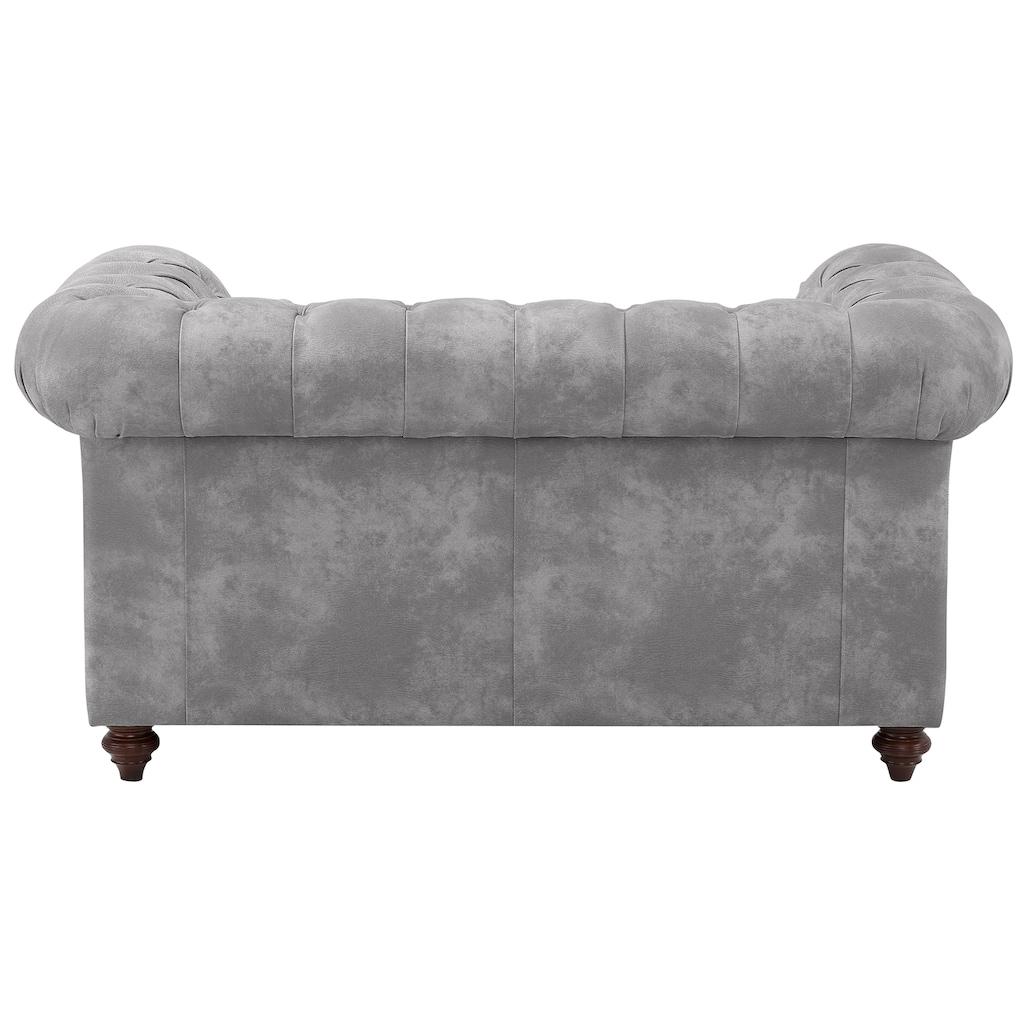 Premium collection by Home affaire 2-Sitzer »Chesterfield«, mit Knopfheftung, auch in Leder