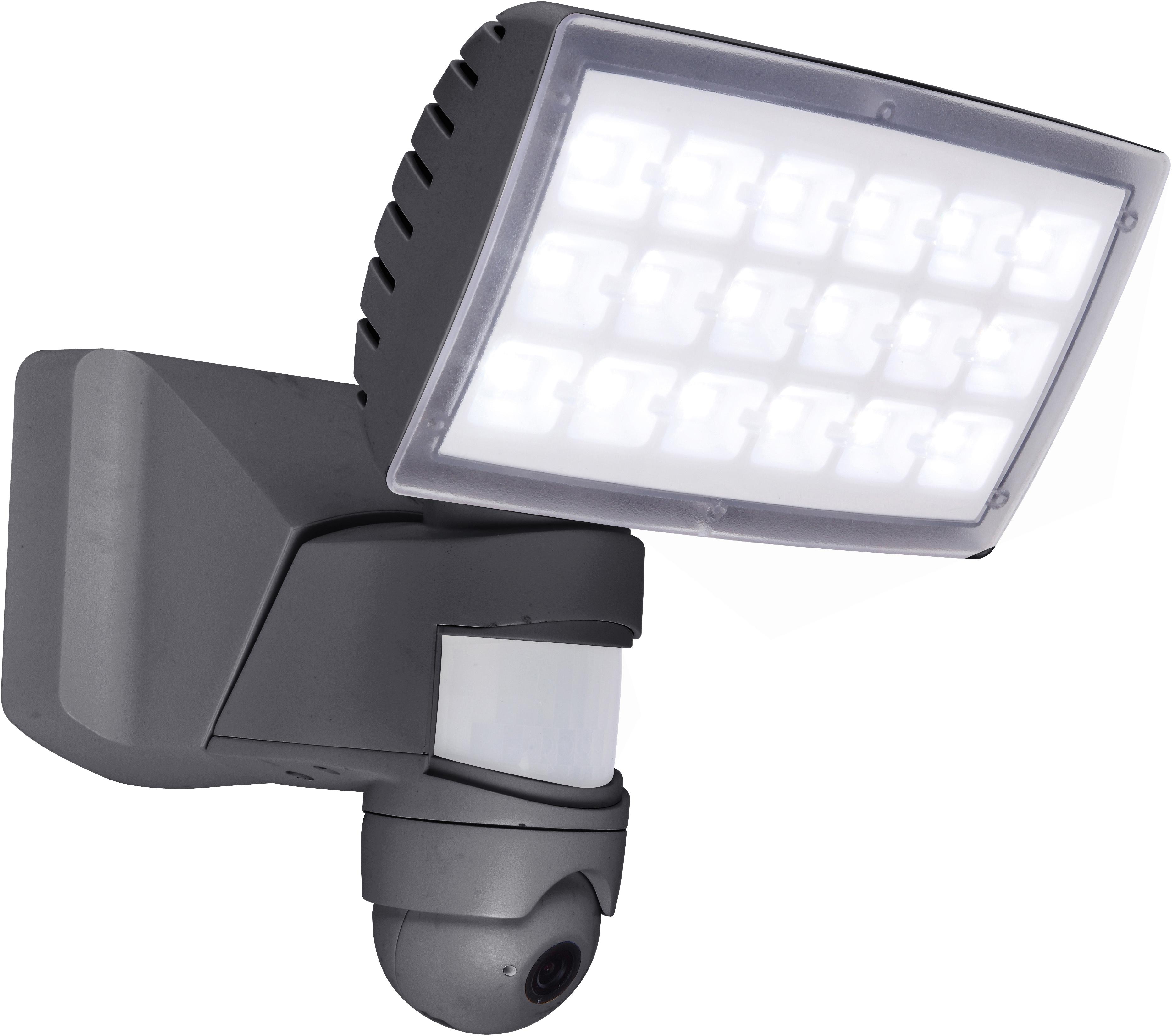 LUTEC LED Außen-Wandleuchte PERI HD 6295-CAM GR, LED-Modul, 1 St., Neutralweiß, Kameraleuchte