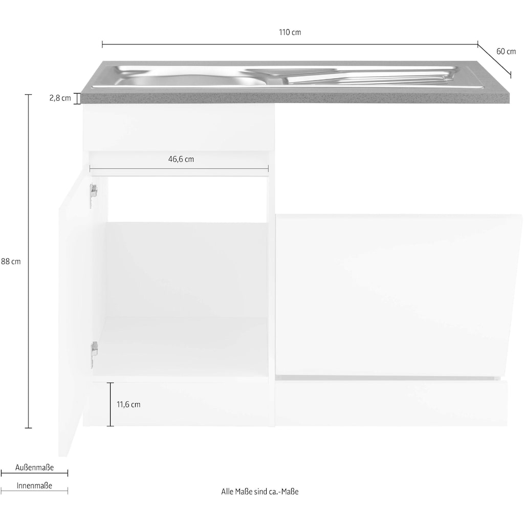 OPTIFIT Spülenschrank »Roth«, Breite 110 cm