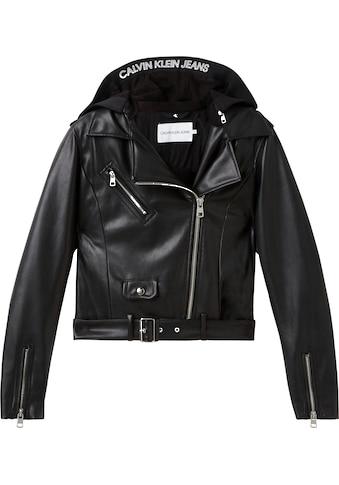 Calvin Klein Jeans Lederimitat - Blazer »FAUX LEATHER JACKET« kaufen
