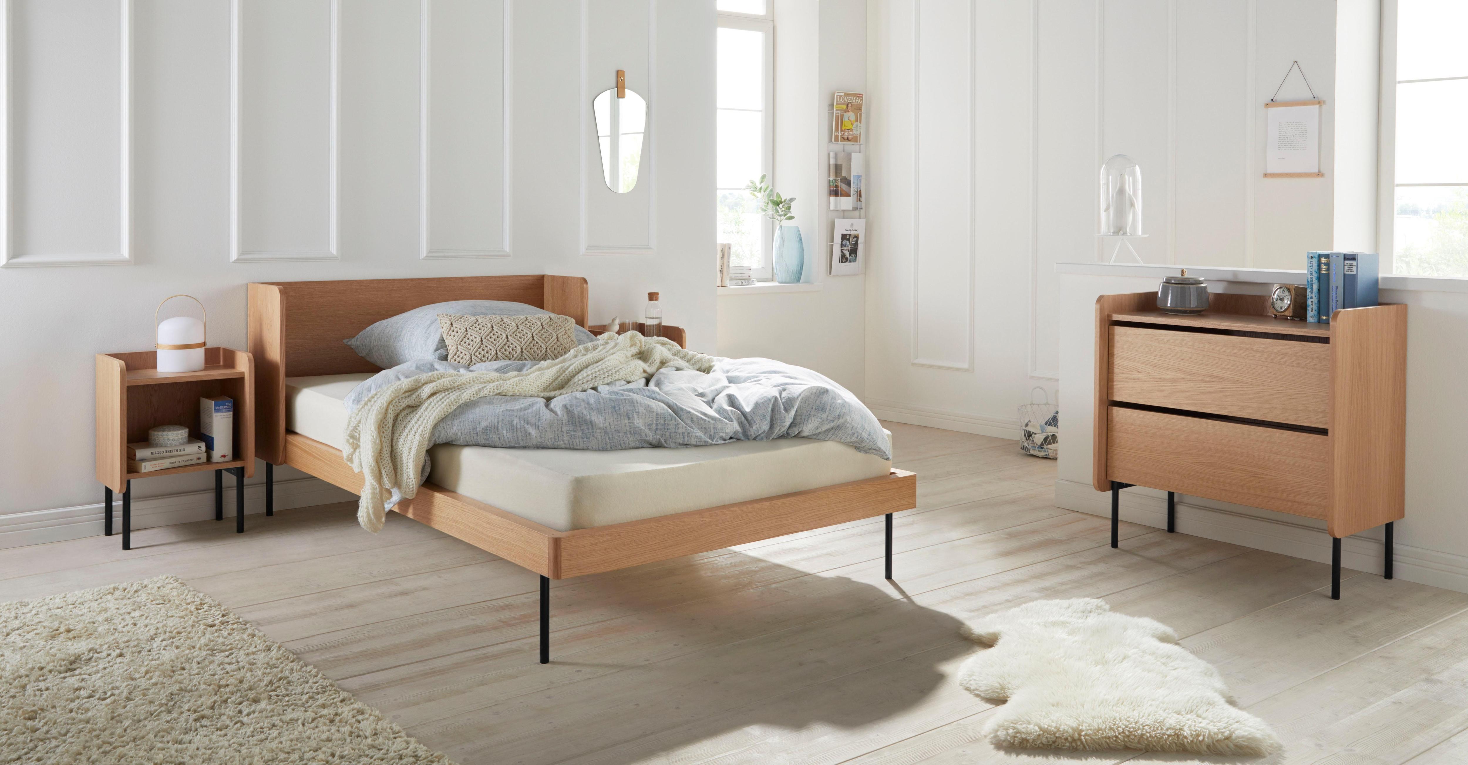 andas Bett Wrap, im skandinavischen Stil beige Doppelbetten Betten