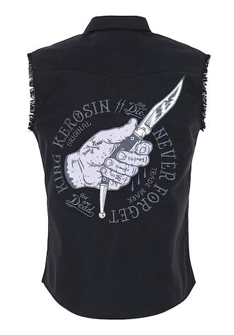 KingKerosin Kurzarmhemd, mit Front- und Rückenstickerei kaufen