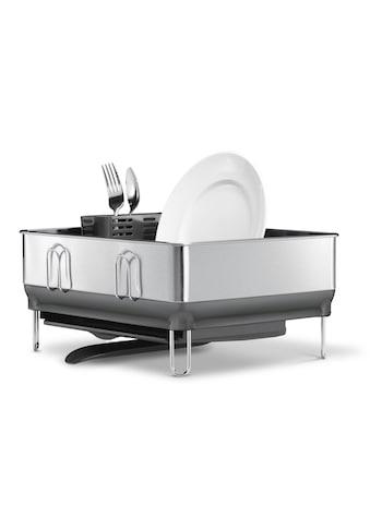 simplehuman Geschirrständer kompaktes Stahlrahmen Abtropfgestell grau kaufen