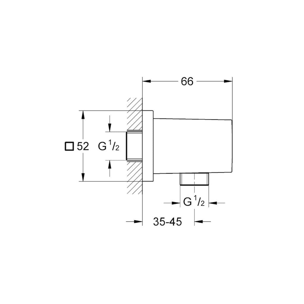 Grohe Wandanschlussbogen »Euphoria Cube«, (B x T x H) 5,2 x 6,6 x 5,2 cm