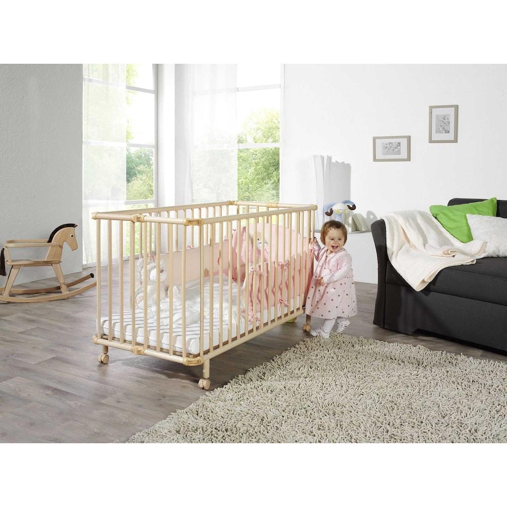Geuther Babybett »Mayla, natur«, platzsparend zusammenklappbar; Made in Europe