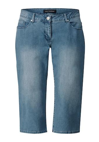 Sara Lindholm by Happy Size Capri-Jeans mit Strasssteinen kaufen