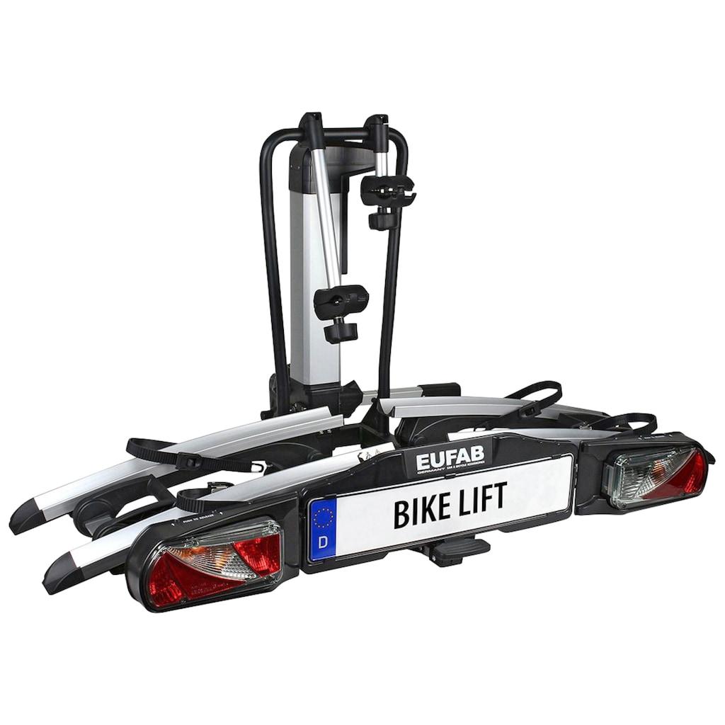 EUFAB Kupplungsfahrradträger »Bike Lift«, rollbar, inkl. Schutzhülle