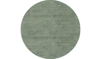 morgenland Wollteppich »Loribaft Teppich handgewebt silber«, rund, 8 mm Höhe, Kurzflor kaufen