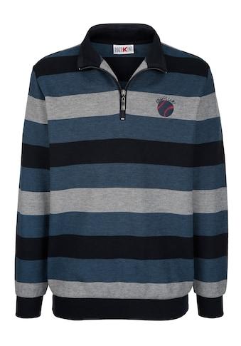 Roger Kent Sweatshirt mit Jacquardstreifenmuster kaufen