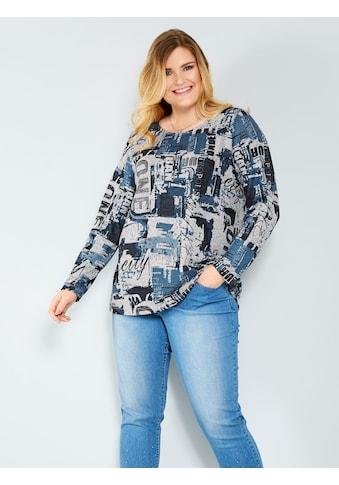 Sara Lindholm by Happy Size Shirt in Strickoptik kaufen