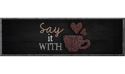 Zala Living Küchenläufer »Say with Coffee«, rechteckig, 5 mm Höhe, waschbar kaufen