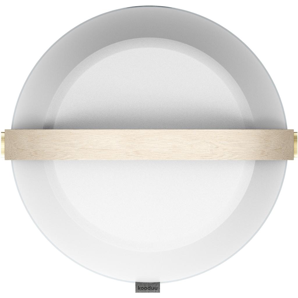 kooduu LED Tischleuchte »Lite-up Play«, LED-Board, Warmweiß, Lautsprecher integriert, dimmbar, Holzgriff, spritzwassergeschützt