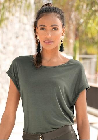 LASCANA Kurzarmshirt, im Basic-Style kaufen