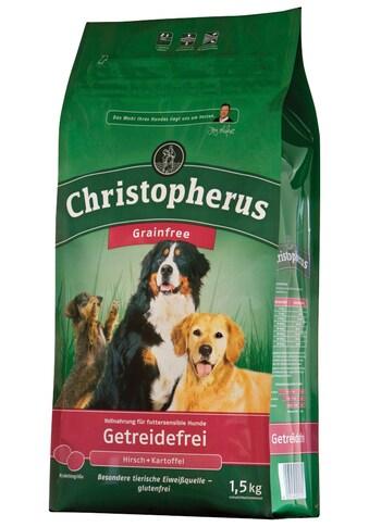 Christopherus Trockenfutter »Getreidefrei Hirsch und Kartoffel«, (4), 4 Beutel á 1,5 kg kaufen
