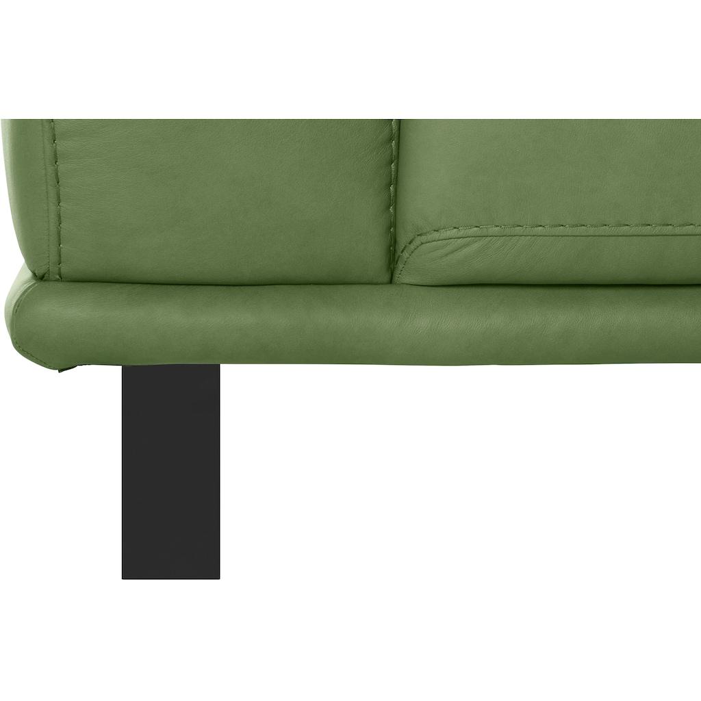 W.SCHILLIG 2,5-Sitzer »montanaa«, mit Metallkufen in Schwarz pulverbeschichtet, Breite 212 cm