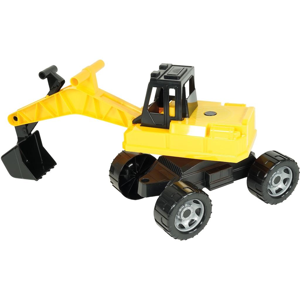 Lena® Spielzeug-Aufsitzbagger »Giga Trucks, schwarz-gelb«, Made in Europe