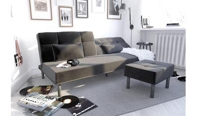 COLLECTION AB Sofa, mit Bettfunktion, elegante Steppung im Rückenteil, inklusive 2 Nierenkissen, stylische schwarze Metallfüße kaufen