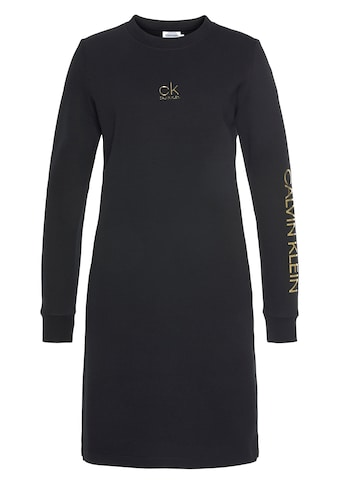 Calvin Klein Sweatkleid »CK GOLD LOGO LS SWEAT DRESS« kaufen