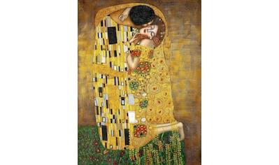 Kunstdruck »KLIMT / Der Kuss« (auf Leinwand 70/3,5/100 cm) kaufen