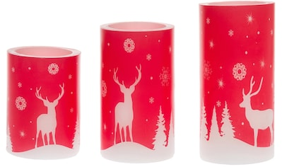 "LED - Kerze ""Winterland"", (Set, 3 - tlg.) kaufen"