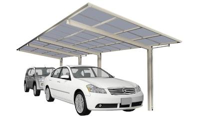 Ximax Doppelcarport »Linea Typ 80 Tandem-Edelstahl-Look«, Aluminium, 257 cm,... kaufen