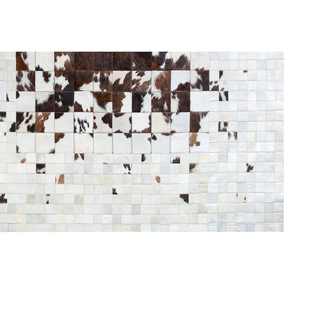 Trendline Fellteppich »Pamplona«, rechteckig, 3 mm Höhe, Patchwork, handgenäht, echtes Rinderfell, Wohnzimmer