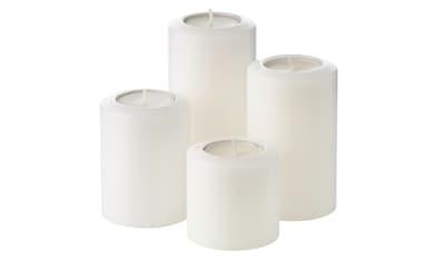 EDZARD Teelichthalter »Cornelius - Serie Pine«, Kerzenhalter aus Kunststoff mit... kaufen