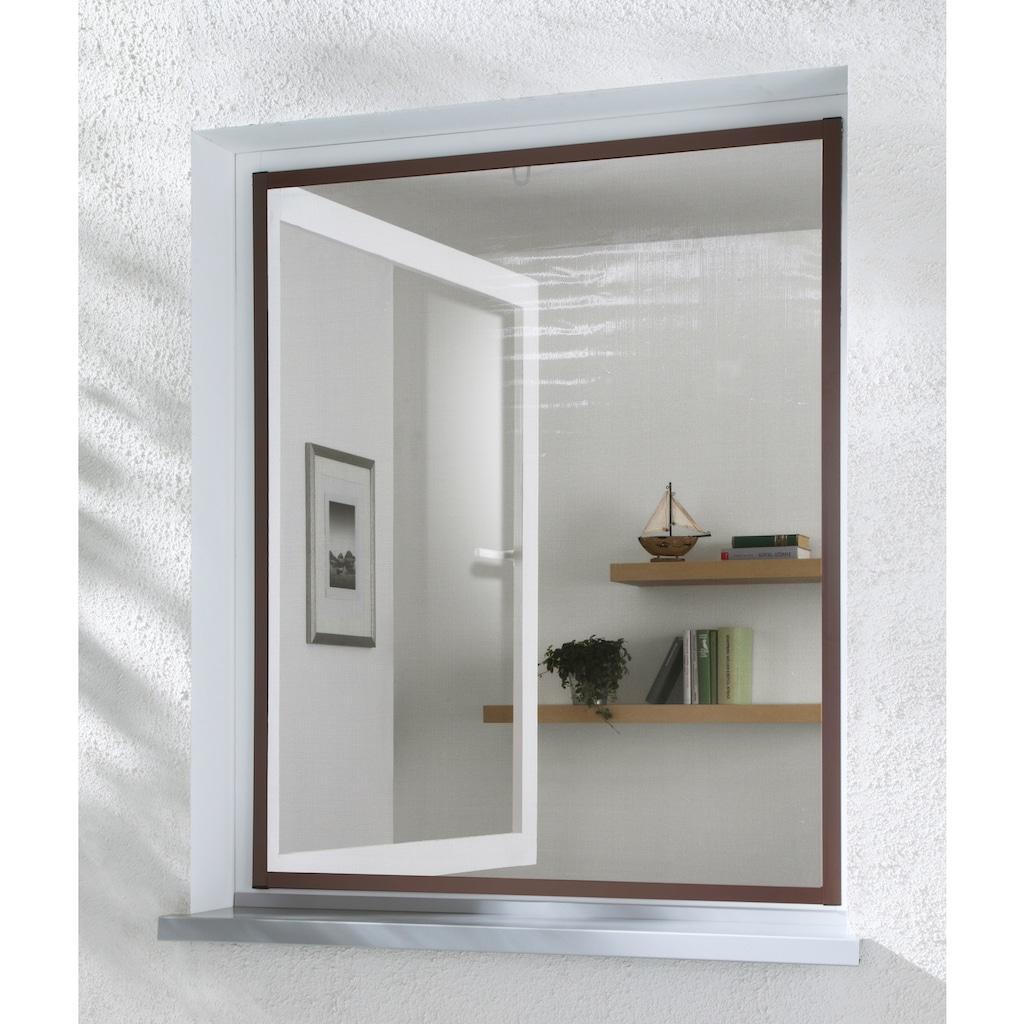 hecht international Insektenschutz-Fenster »MASTER SLIM«, braun/anthrazit, BxH: 130x150 cm