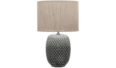 Pauleen Tischleuchte »Pretty Classy«, E27, 1 St., Grau, Beige / Keramik, Stoff kaufen