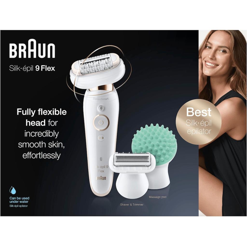 Braun Epilierer »Silk-épil 9 Flex 9020«, flexibler Kopf