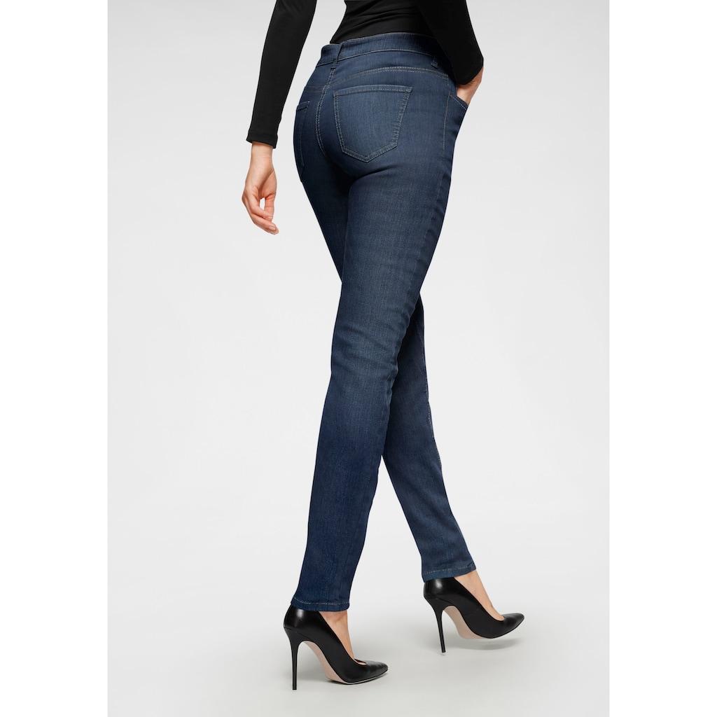 MAC Stretch-Jeans »Angela-Pipe Seam«, Moderner Schnitt durch Längsnaht auf dem vorderen Bein