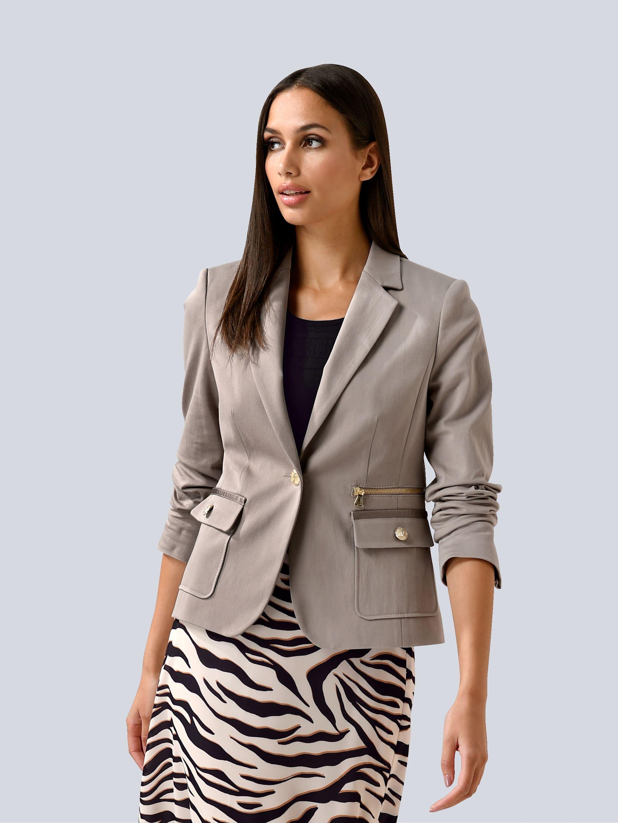 alba moda -  Kurzblazer, mit Zipperdetail