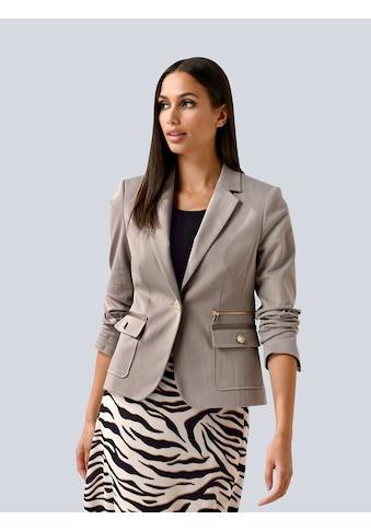 Alba Moda Kurzblazer, mit Zipperdetail kaufen
