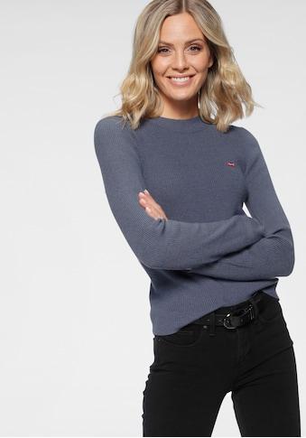 Levi's® Strickpullover »Crew Rib Sweater«, mit Batwing Logo kaufen