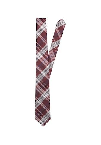 seidensticker Krawatte »Schwarze Rose«, Breit (7cm) Karo kaufen