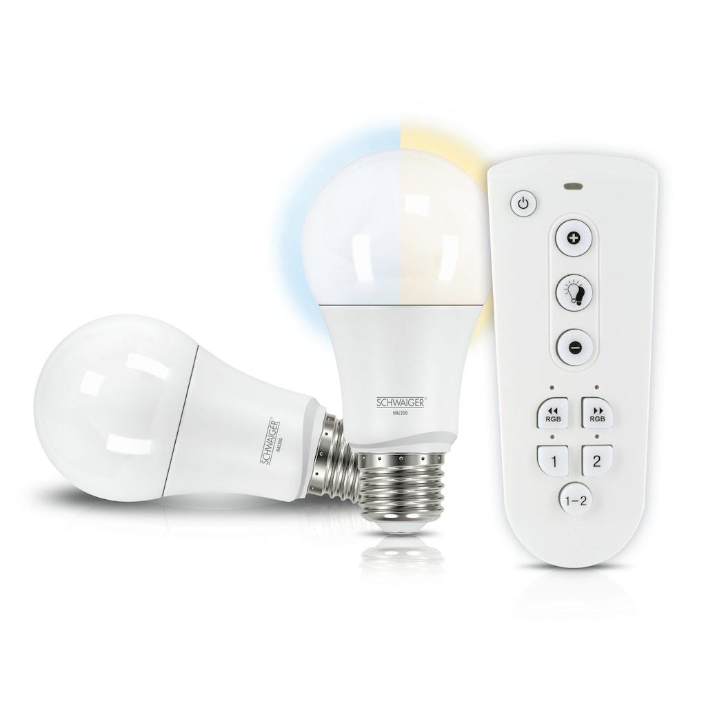 Schwaiger LED Lampen Set E27 dimmbar -smarte LED- Glühbirnen Akzentlicht
