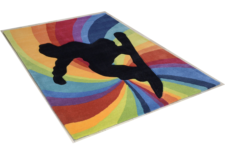 Teppich Snowboarder THEKO rechteckig Höhe 14 mm handgetuftet