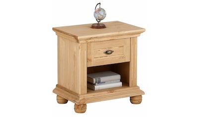 Home affaire Nachtkonsole »Irena«, aus Massivholz, in zwei verschiedenen Farben, mit einer Schublade, Breite 50 cm kaufen