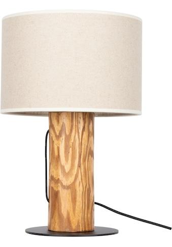 OTTO products Tischleuchte »Emmo«, E27, 1 St., Hochwertiger Leinen-Baumwoll Lampenschirm, aus Massivholz, Naturprodukt mit FSC®-Zertifikat, geeignet für LM E27 - exklusive, Made in Europe kaufen