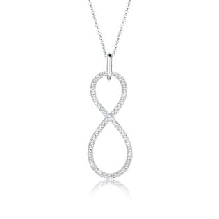 7498c919e4b5 Elli Kette mit Anhänger »Infinity Swarovski® Kristalle Endless 925 Silber«