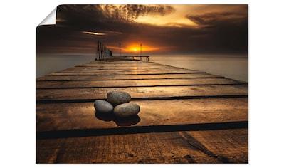 Artland Wandbild »Sonnenaufgang am Schwarzen Meer«, Sonnenaufgang & -untergang, (1 St.), in vielen Größen & Produktarten - Alubild / Outdoorbild für den Außenbereich, Leinwandbild, Poster, Wandaufkleber / Wandtattoo auch für Badezimmer geeignet kaufen