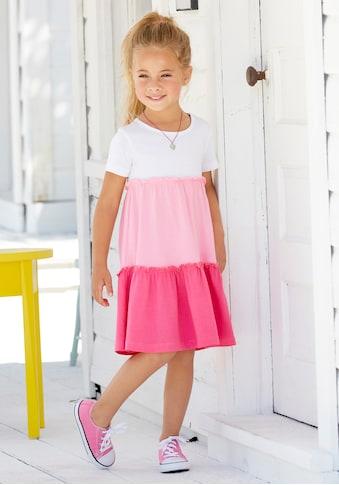 KIDSWORLD Volantkleid, mit Colorblock-Design kaufen