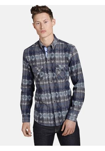 SHIRTMASTER Langarmhemd »squaresandtees«, mit farblichen Akzenten kaufen