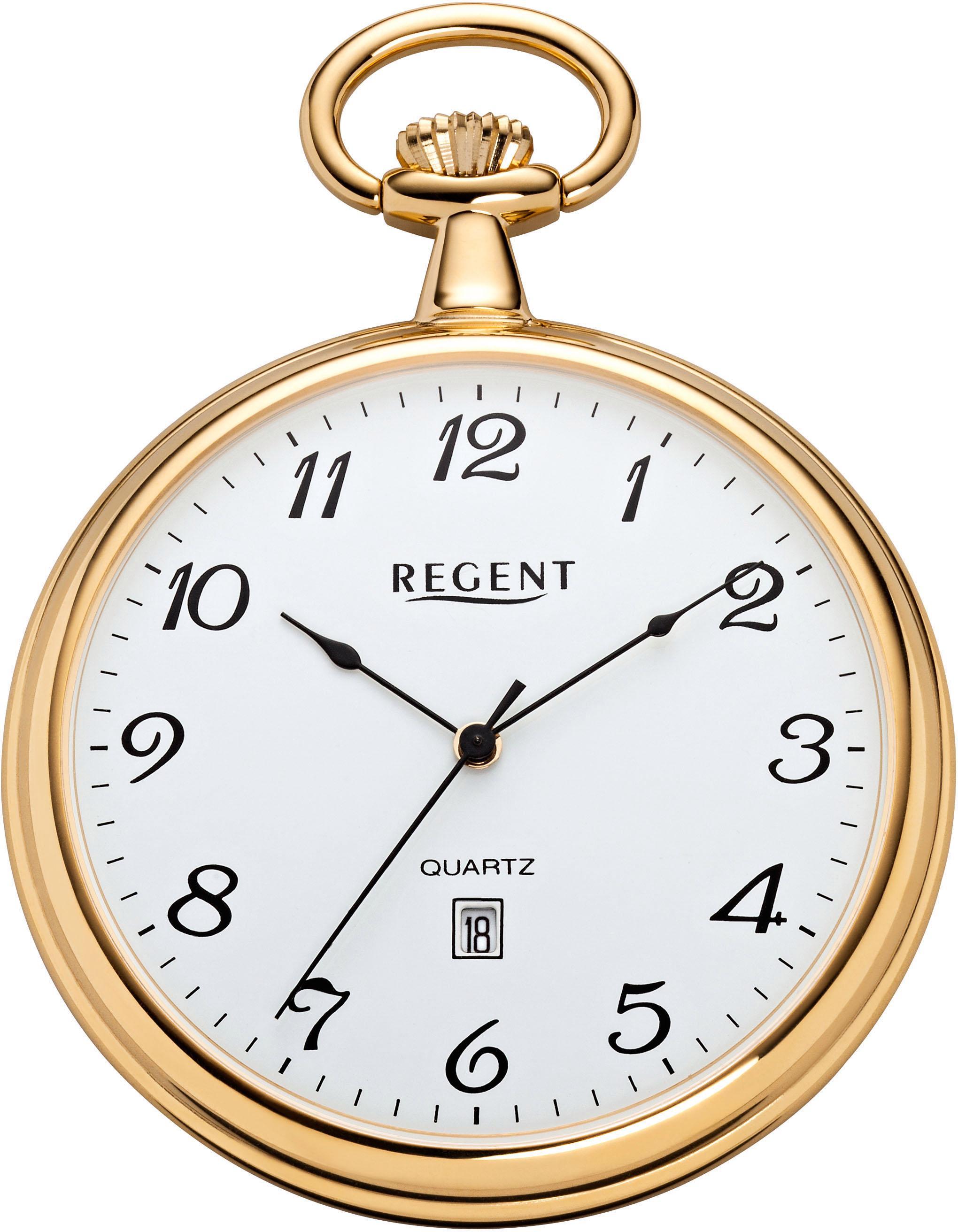 Regent Taschenuhr P566 (Set 2 tlg) | Uhren > Taschenuhren | Goldfarben | Regent