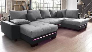 Nova Via Wohnlandschaft Mit Beleuchtung Wahlweise Mit Bluetooth
