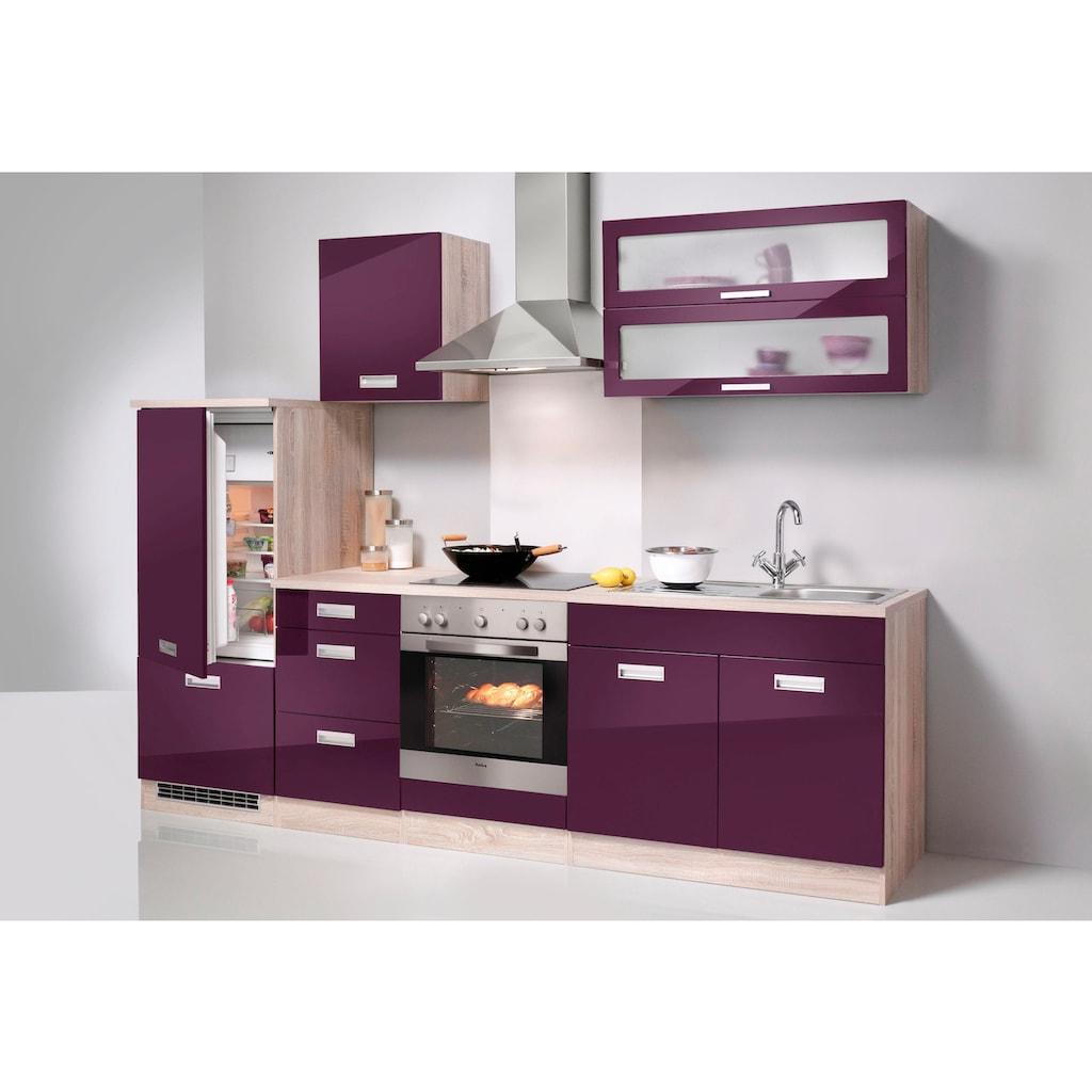 HELD MÖBEL Küchenzeile »Fulda«, ohne E-Geräte, Breite 270 cm