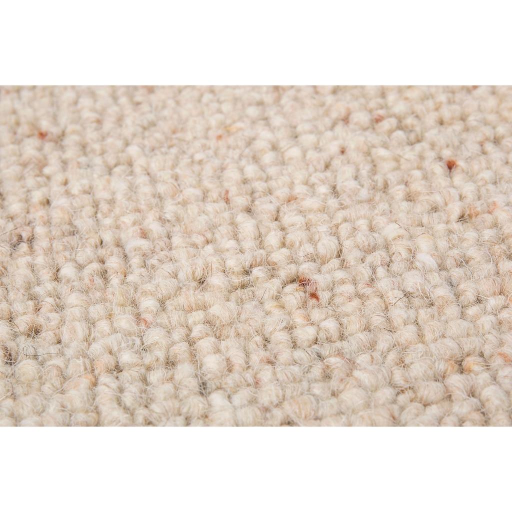 LUXOR living Stufenmatte »Sheffield«, halbrund, 5 mm Höhe, 15 Stück, Schurwolle, melierte Berber-Optik