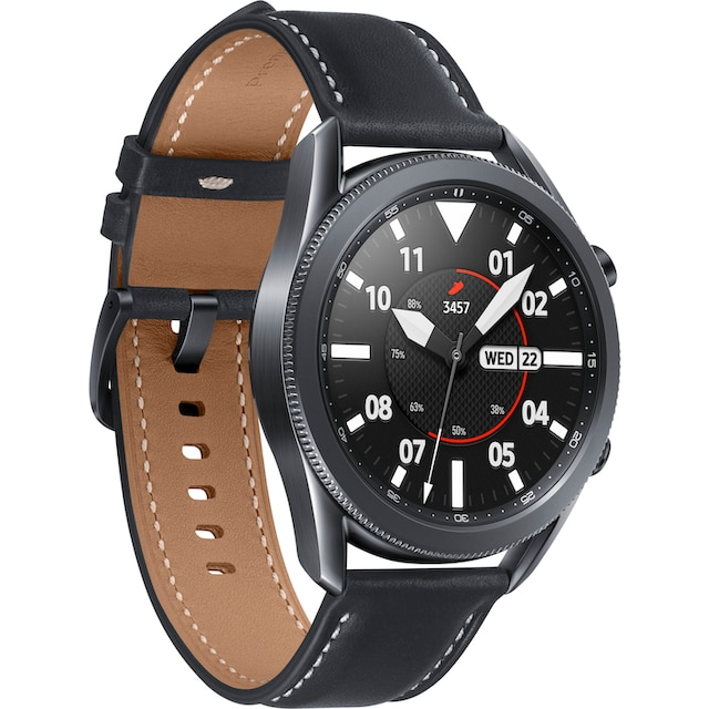 Samsung Galaxy Watch3, Edelstahl, 45 mm, Bluetooth (SM-R840) Smartwatch (3,4 cm / 1,4 Zoll)