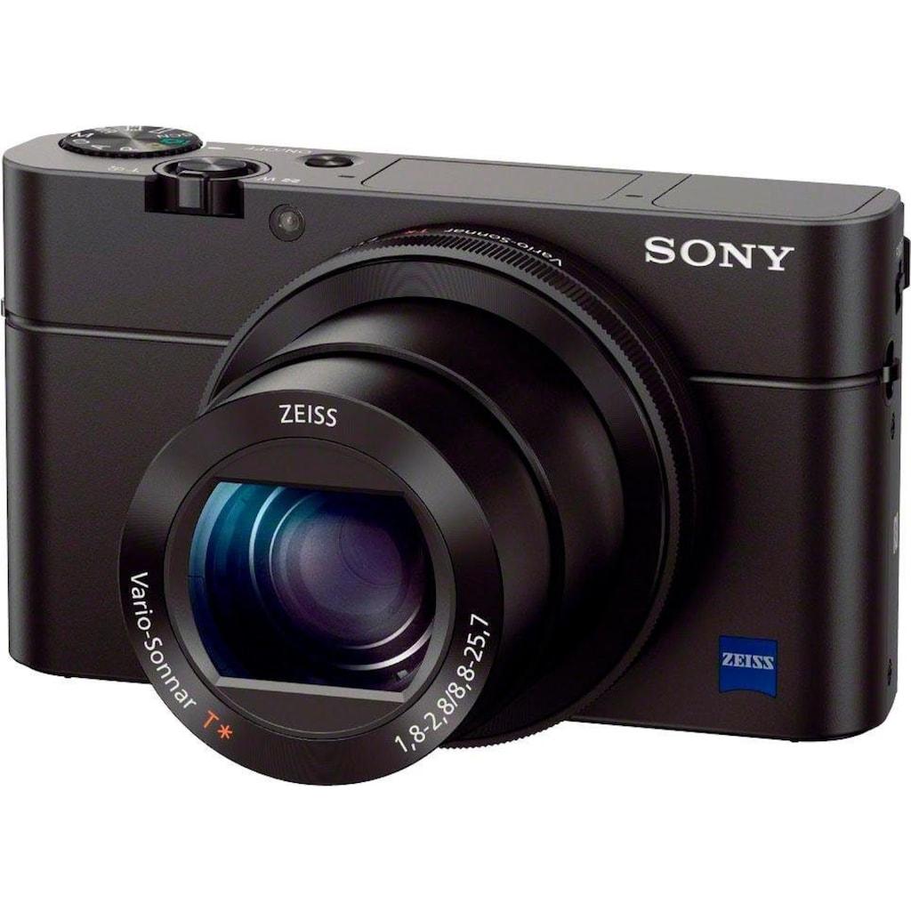 Sony Kompaktkamera »DSC-RX100 III G«, 24-70mm Carl Zeiss Vario Sonnar T* Objektiv (F1.8-F2.8), inkl. VCT-SGR1 Stativgriff