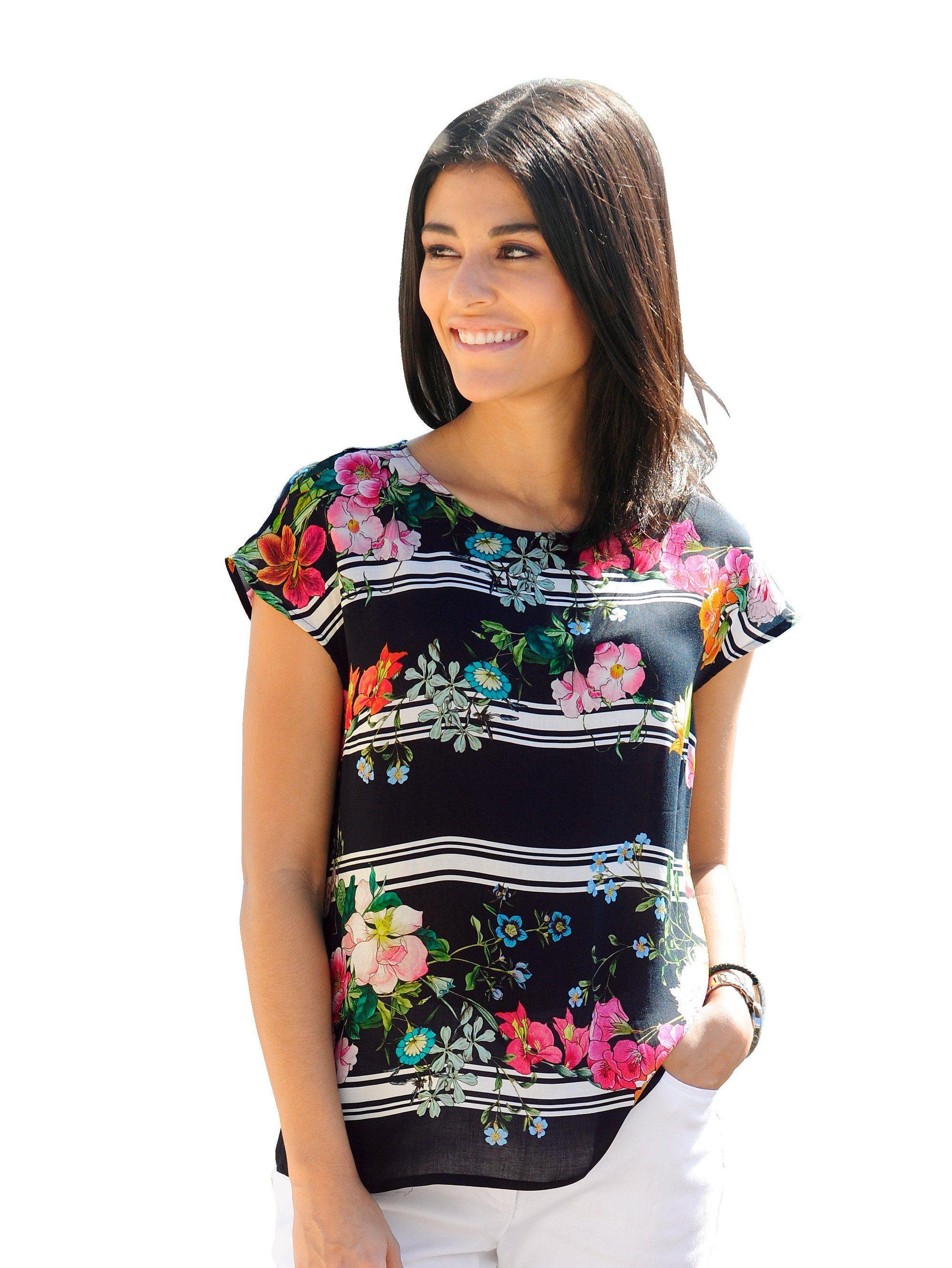 Alba Moda Blusenshirt mit attraktiver Rückenlösung